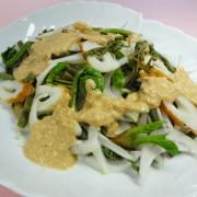 山菜とちくわのサラダ完成