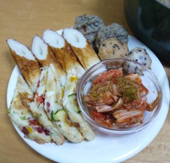 白菜キムチと三河豚のおでん1