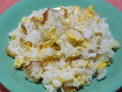 ちくわと卵の胡椒ごはん