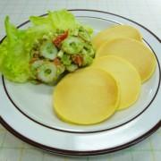 ちくわのパンケーキ(アボカドソース)