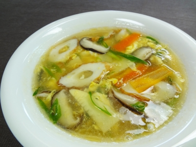 ちくわの中華風五目スープ