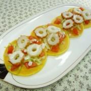 ちくわのパンケーキ(シーザーサラダ)