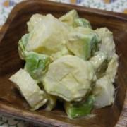 「チーズ巻」とアボカドのサラダ