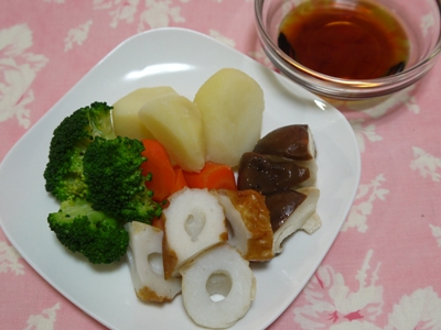 ちくわと茹で野菜のダイエットサラダ