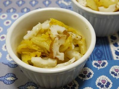 白菜とちくわのカレーマリネ