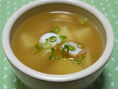 ちくわとじゃが芋の味噌汁