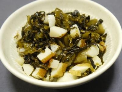高菜とちくわの炒め物