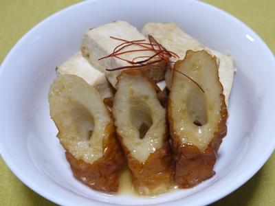 焼き豆腐とちくわのさっと煮