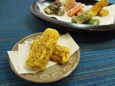 ちくわのカレー天ぷら完成