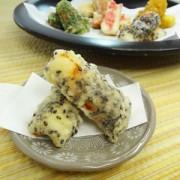ちくわの黒ごま天ぷら完成