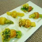 No.25002(料理25-004) 完成ちくわの春野菜詰め、ほんのりカレー衣揚げ