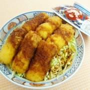 No.25001(料理25-001) 完成ちくわのソースカツ丼