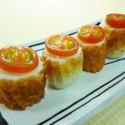 No.25011(料理25-016)ちくわの一口寿司(ミニトマト)完成