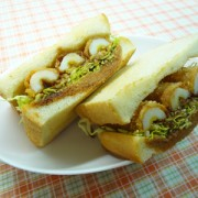 No.25023(料理25-026)ちくわフライのトーストサンドイッチ完成