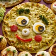 No.25148ちくわのジンジャーブレッドマンの顔型ピザ